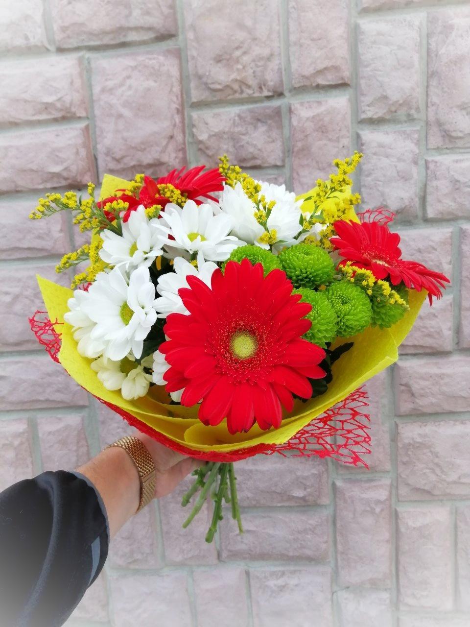 Заказ и доставка цветов он г вологда, свадебный букет осенний
